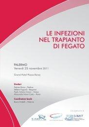le infezioni nel trapianto di fegato - Società Italiana Trapianti d'Organi