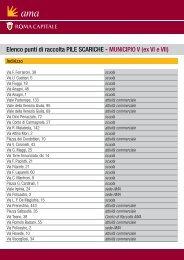 Elenco punti di raccolta PILE SCARICHE - MUNICIPIO V (ex ... - Ama