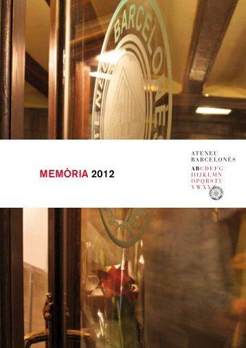 MEMòRIA 2012 - Ateneu Barcelonès
