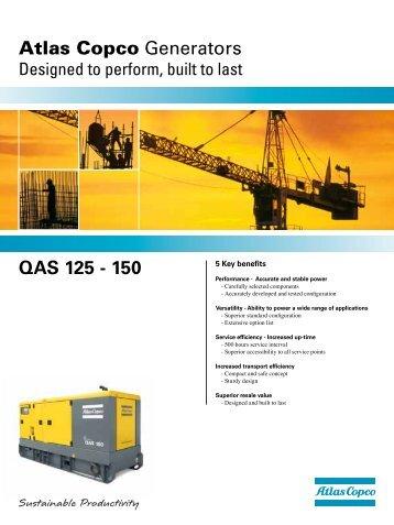 Atlas Copco Generators QAS 125 - 150