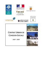 CONTRAT URBAIN DE COHESION SOCIALE - CRPV-PACA