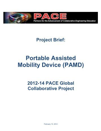 Portable Assisted Mobility Device (PAMD) - PACE