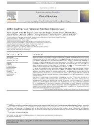 ESPEN Guidelines on Parenteral Nutrition ... - Fresenius Kabi