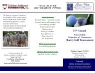 17th Annual Charity Golf Tournament - Lifetime Assistance