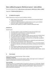 Název vzdělávacího programu: Školitel první pomoci – výuka ... - NIDM