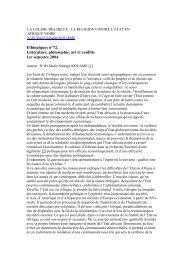 Ethiopiques n°72. Littérature, philosophie, art et conflits 1er ...