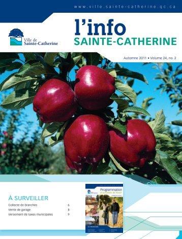 Info automne 2011 - Ville de Sainte-Catherine
