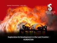 KURDISTAN - ShaMaran Petroleum Corp. - Home