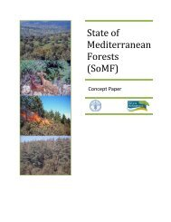 State of Mediterranean Forests (SOMF) - FAO