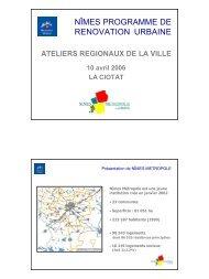 NÎMES PROGRAMME DE RENOVATION URBAINE - CRPV-PACA