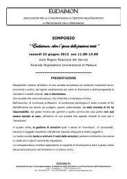Eudaimon: oltre l'epoca delle passioni tristi - Azienda Ospedaliera di ...