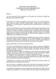 Intervention Jean-Michel Ruiz Conférence de presse ... - Pcf