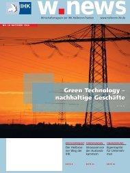 Green Technology – nachhaltige Geschäfte Green ... - w.news