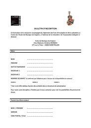 télécharger le formulaire d'inscription au format PDF