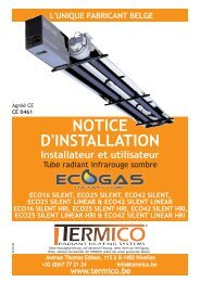 Notice de montage du radiant TERMICO