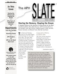 SLATE Win 03 - American Printing House for the Blind