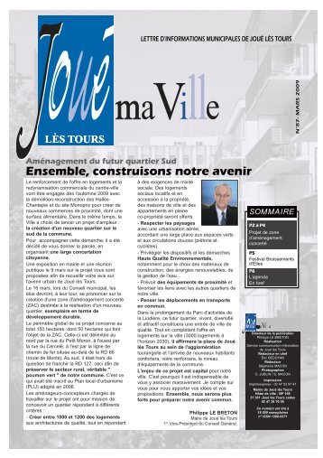 Lettre 87.qxd - Mairie de Joué lès Tours