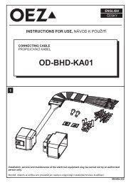 Przyłącza obwodów pomocniczych - OD-BHD-KA01
