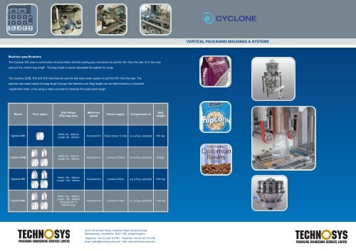 VERTICAL PACKAGING MACHINES & SYSTEMS - TradeKey