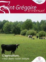 Saint-Grégoire, le Mensuel Juillet-Août 2010