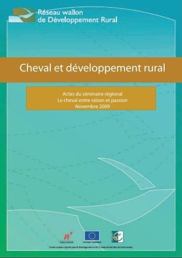 Cheval et développement rural - Réseau wallon de Développement ...