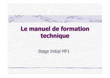 Le manuel de formation - ffessm