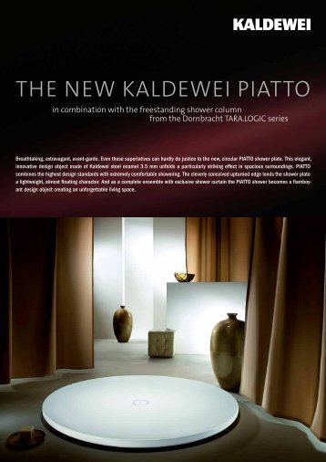 THE NEW KALDEWEI PIATTO