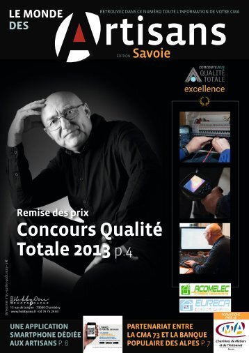 Le Monde des artisans en Savoie n°95 - Juillet / Août 2013