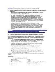 Annexe à la lettre ouverte au Président Sarkozy