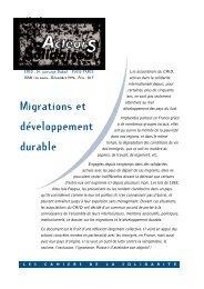 Migrations et développement durable - Crid