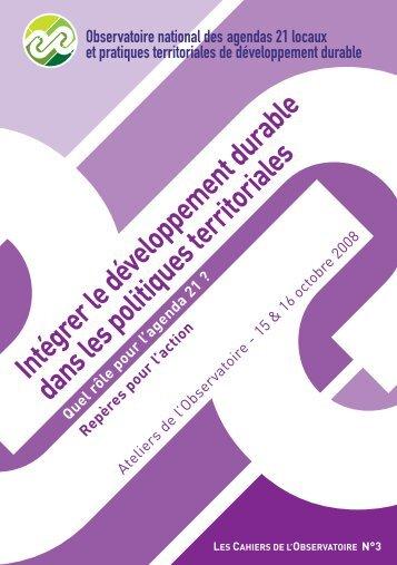 Intégrer le développement durable dans les ... - CRPV-PACA