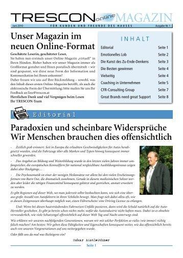 Unser Magazin im neuen Online-Format