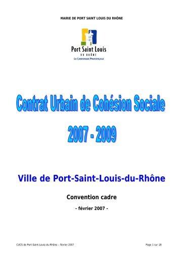 Ville de Port-Saint-Louis-du-Rhône Convention cadre - CRPV-PACA