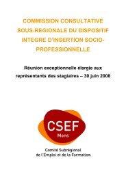 Contexte et Objectifs du projet - CSEF Mons