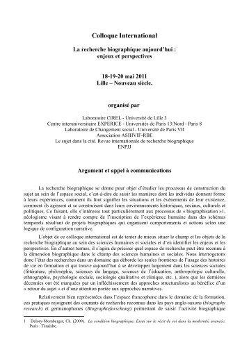 Télécharger l'appel à communication au format PDF - Lille 3