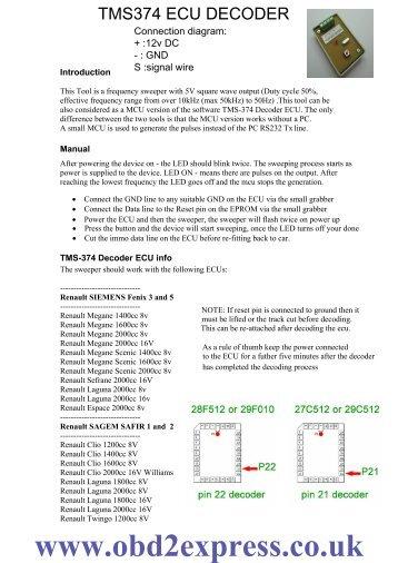TMS374 ECU DECODER manual.pdf - Car diagnostic tool