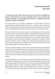 rapport introductif de Pierre Laurent - PCF