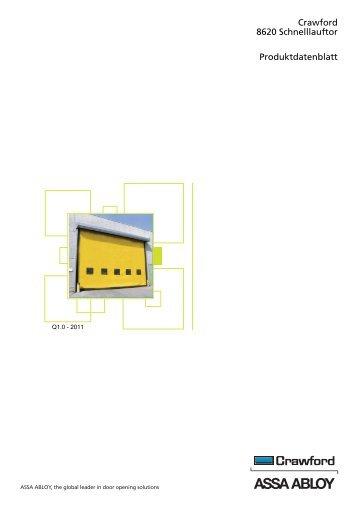 Crawford 8620 Schnelllauftor Produktdatenblatt - Crawford hafa GmbH