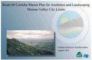 Route 60 Corridor Master Plan for Aesthetics and ... - Moreno Valley