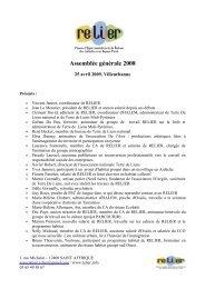 Assemblée générale 2008 - Relier