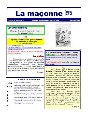 Vol.I #1 - Association des Brassard d'Amerique