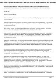 Dominique Adenot, Président de l'ANECR écrit à Jean-Marc ... - PCF