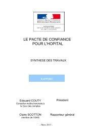Pacte de confiance pour l'hôpital - Ministère des Affaires sociales et ...