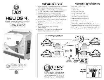 Helios 4 TM - Titan Controls