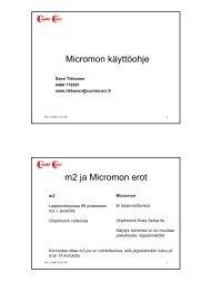 Micromon asetteluohje - Oy Combi Cool Ab