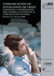 COMUNICACIóN EN SITUACIONES DE CRISIS - IDEC - Universitat ...