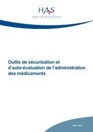 Guide Outils securisation Autoevaluation Administration ... - JIQHS