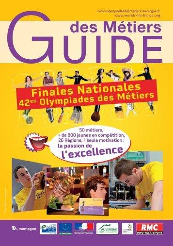 Guide des métiers - Olympiades des Métiers - Auvergne