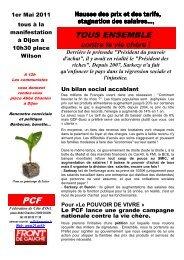 Tract Chenove bourroches vie chere avril 2011 - Fédération PCF de ...