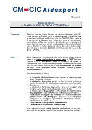 OFFRE DE STAGE Â« CONSEIL EN DEVELOPPEMENT ...